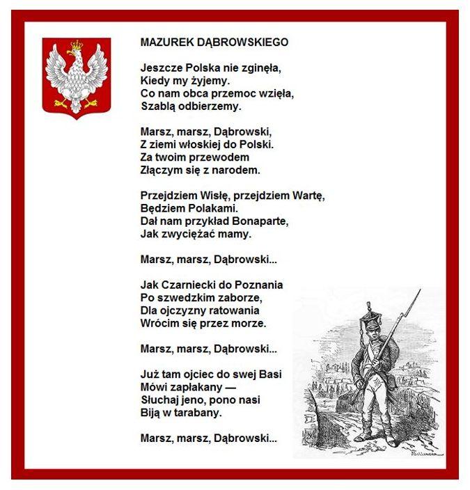 Przez lata tekst Mazurka Dąbrowskiego ulegał różnym zmianom…